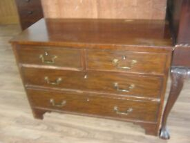 VINTAGE SOLID CHEST OF DRAWERS. 4 DEEP STRONG DRAWERS. VIEWING / DELIVERY AVAILABLE