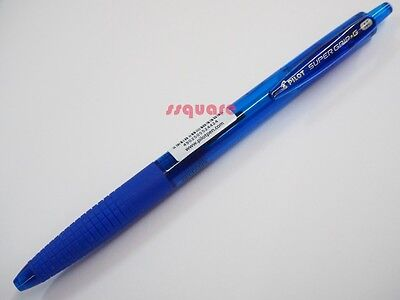 6 X Pilot Super Grip G Bpgg-8r 1.0mm Medium Retractable Ballpoint Pen Blue