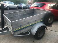 "5ft x 3ft 6"" Trelgo tipping trailer + spare wheel"