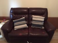 Electric recliner two seat sofa and arm chair