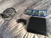 1TB Playstation 4 + controller and 3 games