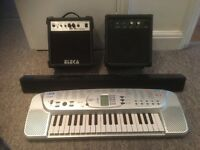 2 x Guitar practice amps (1-10watt /1-20watt) + FREE Casio & Sound Bar