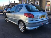 Quick sale £650 no offers,PEUGEOT 206 GTI 136BHP,2.0l PETROL MANUAL LEATHER INTERIOR NEW TYRES