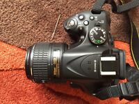 Nikon D5200 with 18-55 VR 2 kit,bag and accessories