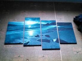 Teal canvas prints