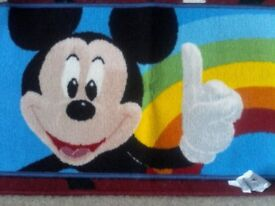 Disney Mickey Mouse kids bedroom mat