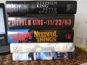 STEPHEN KING 5 First Edition Hardcover Books - Needful Things Everythings Eventual Buick 8 Black House 11/22/63 Kennedy