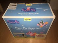 Kids peppa pig fish tank with two ornaments