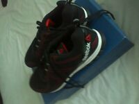 as in brand new only used twice mens rebook sublite superduo trainers size 12