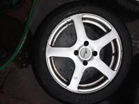 Ford,Citroen,Peugeot alloy wheel&tyers