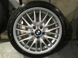 ALLOYS X 1 OF BRAND NEW BMW 3 SERIES FRONT REPLICA WHEEL WITH TYRE NEVER BEEN FITTED TO A CAR