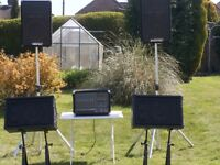 PA System, Leem 86T Triple Amp Graphic mixer,Phonic speakers & stands, Stageline speakers & leads