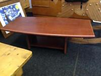 Heavy brown coffee table