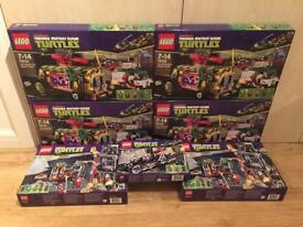 Collection of brand new and sealed discontinued Lego Teenage Mutant Ninja Turtles sets