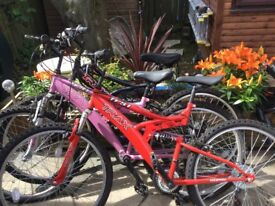 3 bicycles as new