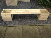 Garden furniture planter seat