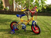 "12"" bike with stabilisers- as new"