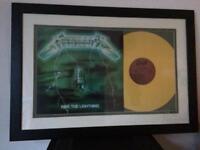Metallica 'Ride the Lightening' Framed vinyl