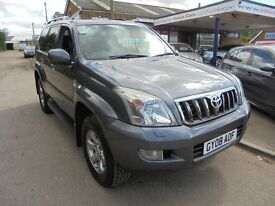 2008 08 toyota landcruiser invincible 3.0 diesel automatic, leather, sat nav. 30 + cars in stock.