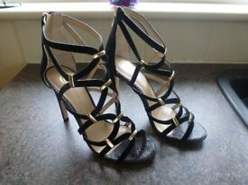 RIVER ISLAND High Heeled sandals 8080 UK 6 EUR 39 BNWT R.R.P £65 ONLY £20.