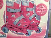 Kids rollerskates/blades adjustable size 9-12