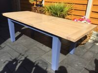 Solid Oak Extending Dining Table. Ex Display.