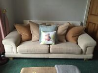3 seater sofa couch suite very good condition - formby liverpool
