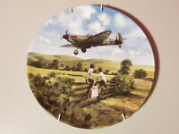 """Royal Doulton """"Spitfire Coming Home"""" collectors Plate No 2584N with hanger"""