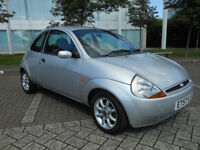 FORD KA ZETEC CLIMATE 2008, 1.3 PETROL, 1 YEARS MOT, IN GLEAMING METALLIC SILVER! (LADY OWNER)