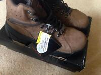 New Trojan Workwear Brown Leather Safety Boot - Steel Toe Cap