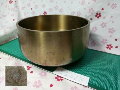 "Marked SPL SAHARI 4.724"" Japanese Buddhist Bell SS087 Long and Short Wavelengths"