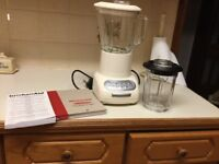 Kitchen Aid blender with glass pitcher