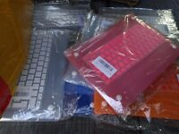 """imac air 13"""" case and keyboard cover joblot x 55"""