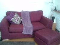 2 - TWO SEATER SOFA'S 7 MONTHS OLD - ONE IS SOFA BED - QUICK SALE!!