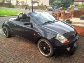 Ford Street Ka Convertible (2003) 2 door convertible in black for sale. MOT to 31 July 2018. Manual.