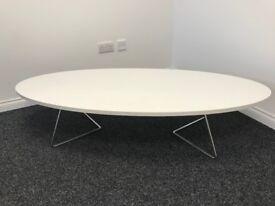 White Oval Coffee Table Unused
