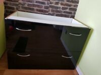 kitchen furniture black gloss finish