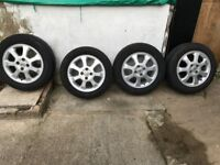 15'' alloy wheels and tyres -4 for vauxhall astra