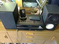Sony mini hi-fi system with ipod dock and remote.
