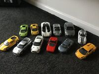 Fantastic collection of model sports cars