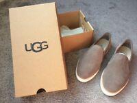 UGG grey suede ladies shoes 4,5