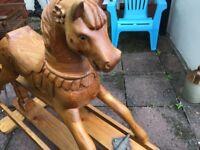 Beautiful solid wood rocking horse