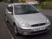 ford focus zetec, 2002, 1.6 petrol good working order and condition for year