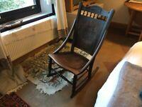 Beautiful and unusual antique nursing/rocking chair. Oak, amazing condition.