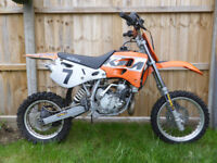 KTM SX65 Motocross bike, new tyres, runs well, clutch slipping hence price £550