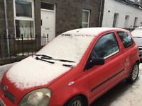Toyota Yaris for Sale, 2001, Crash Damage, for Repair or Spares