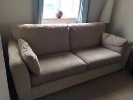 Neutral 3 seater sofa
