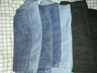 6 pairs of jeans 38waist 31/32 leg
