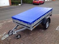 car box trailer camping THULE Brenderup 1205s and cover