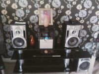 panasonic hifi with subwoofer and remote